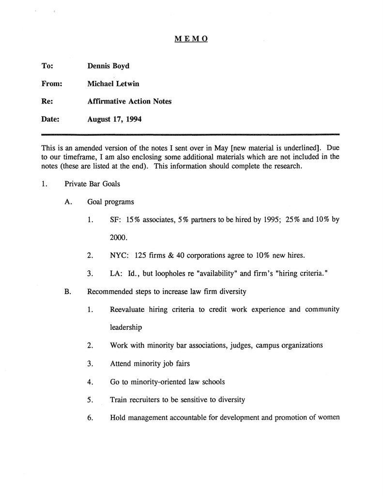 1994.08.17 Letwin Affirmative Action Notes Memo_Page_1-001